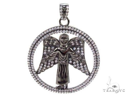 Angel Silver Pendant 36589 Metal