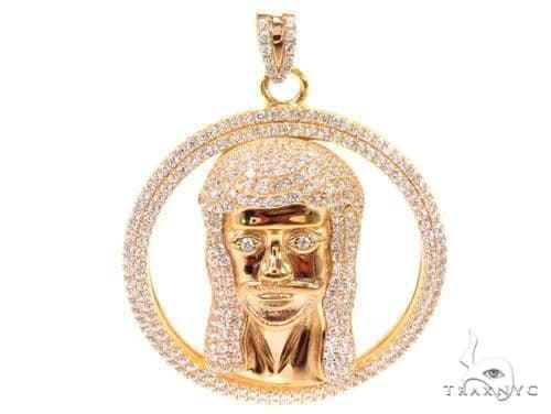 Jesus Head Silver Pendant 36592 Metal