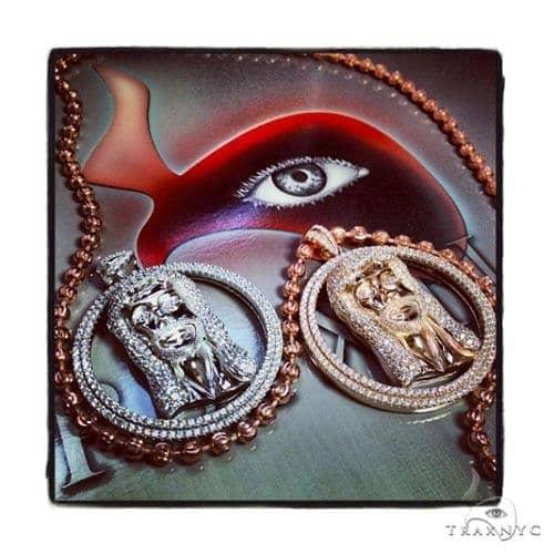 Jesus Head Silver Pendant 36595 Metal