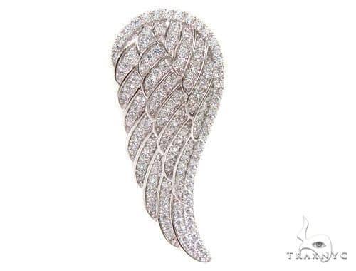 Wing Silver Pendant 36612 Metal