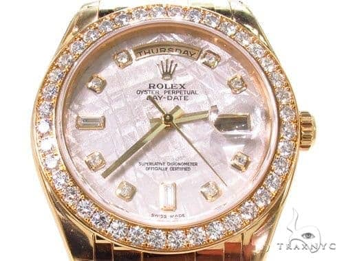 Diamond Rolex Day-Date Masterpiece 18K Gold Watch
