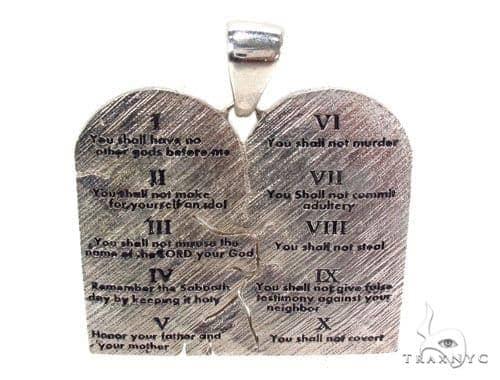 Custom Silver Decalogue Pendant Metal