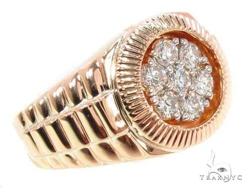 Rose Gold Timepiece Solitaire Band 36689 Stone