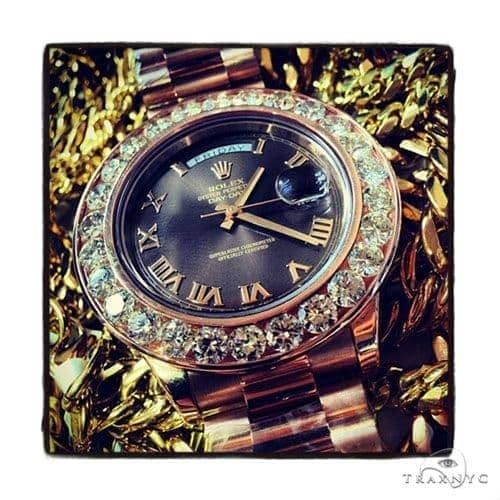Rose Gold Day-Date Presidential Diamond Rolex Watch