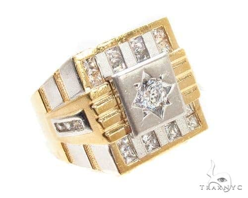CZ 10K Gold Ring 36786 Metal