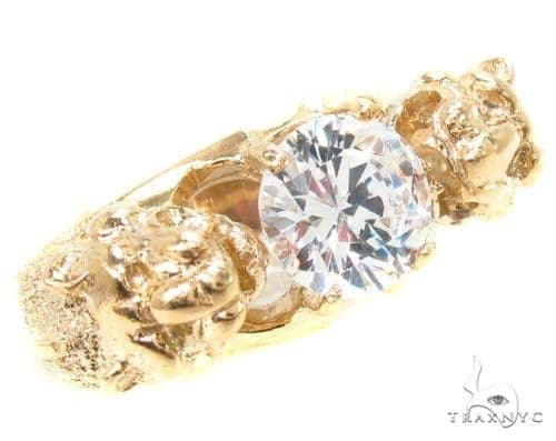 CZ 10K Gold Ring 36802 Metal