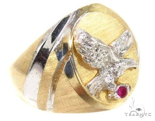 CZ 10K Gold Ring 36805 Metal