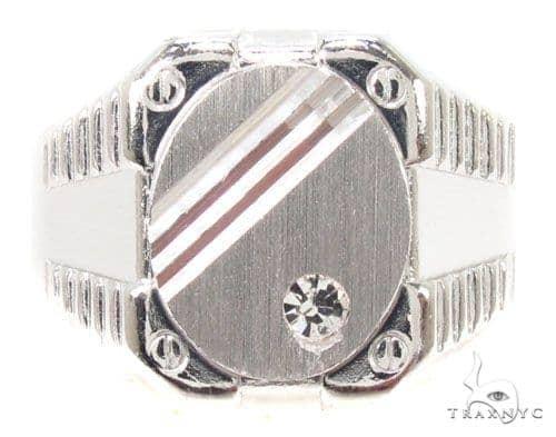 CZ Silver Ring 36809 Metal
