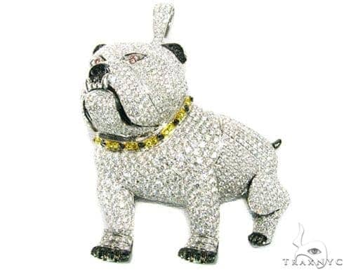 XL Bulldog Pendant Metal
