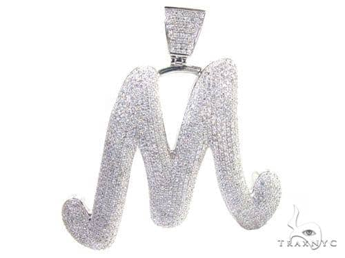 Diamond Initial M Pendant 5359 Metal