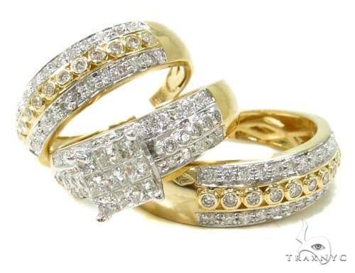 Invisible Diamond Wedding Ring Engagement