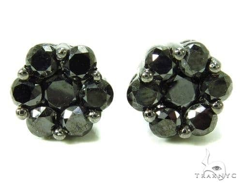 Black Diamond Earrings 36942 Stone
