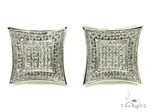 Prong Diamond Earrings 36945 Stone
