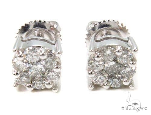 Prong Diamond Stud Earrings 36948 Style