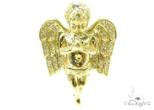 Prong Diamond Angel Pendant 36952 Metal