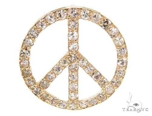 Prong Diamond Peace Pendant 36963 Metal