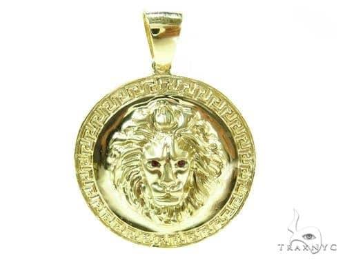 14K Yellow Gold Lion Pendant 36994 Metal