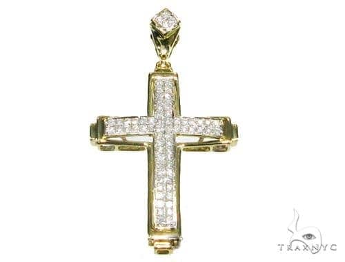 Two Row Mini Pave Cross Crucifix Diamond