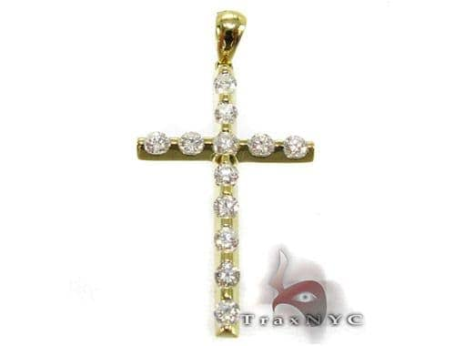 YG Unique Cross Crucifix Diamond
