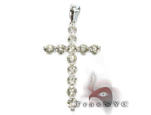 Round Cut Enzo Cross Crucifix Diamond