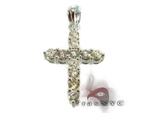 Mini Prong Cross Crucifix Diamond