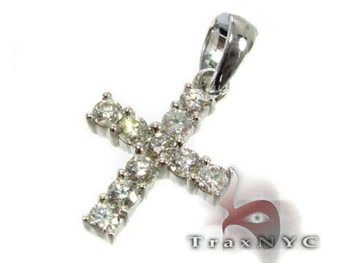 Mini Face Cross Crucifix Diamond