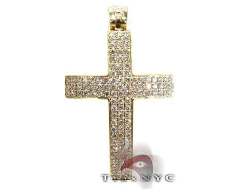 Yellow Thunder Cross Crucifix Diamond