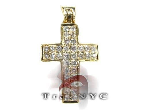 Yellow OG Cross Crucifix Diamond