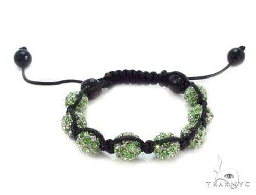 Crystal Shambala Rope Bracelet 37129 Gold