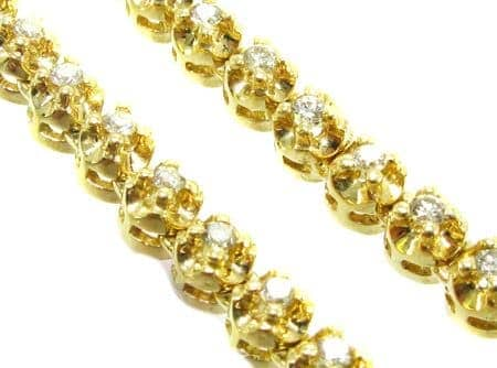 Yellow Gold Prong Chain 32 Inches, 5mm, 90.30 Grams 2796 Diamond