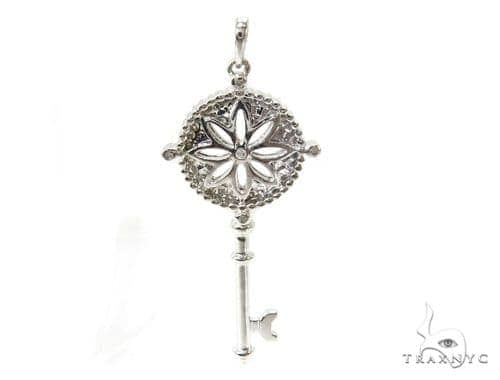 Bezel Diamond Key Pendant 37151 Stone