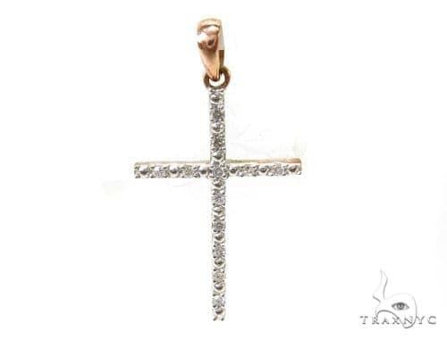 Prong Diamond Silver Cross 37192 Silver
