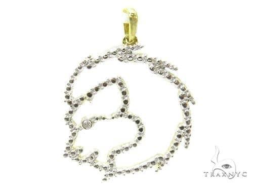 Bezel Diamond Silver Pendant 37202 Metal
