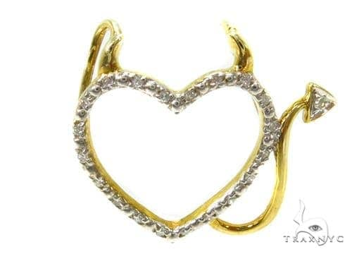 Prong Diamond Heart Pendant 37213 Metal