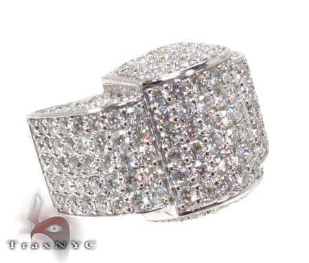 Mens Diamond Pave Ring Stone
