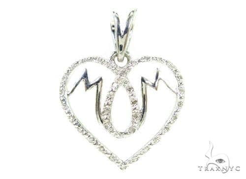 Prong Diamond Silver Mom Pendant 37330 Metal