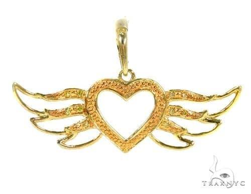 Prong Diamond Heart Silver Pendant 37356 Metal