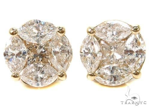 Marquise Diamond Stud Earrings Stone