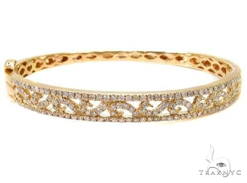 Prong Diamond Bangle Bracelet 37374 Bangle