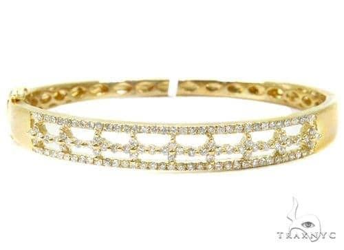 Prong Diamond Bangle Bracelet 37376 Bangle