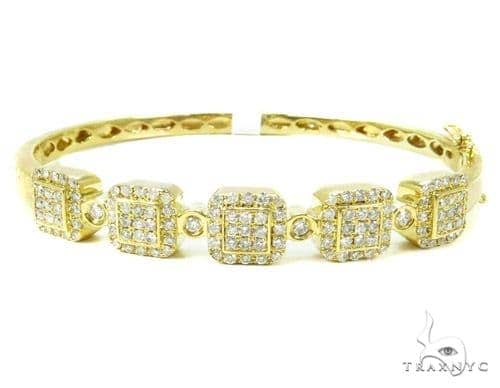 Prong Diamond Bangle Bracelet 37378 Bangle