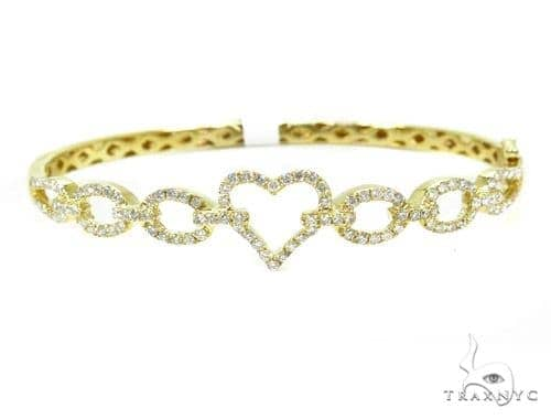 Prong Diamond Bangle Heart Bracelet 37388 Bangle
