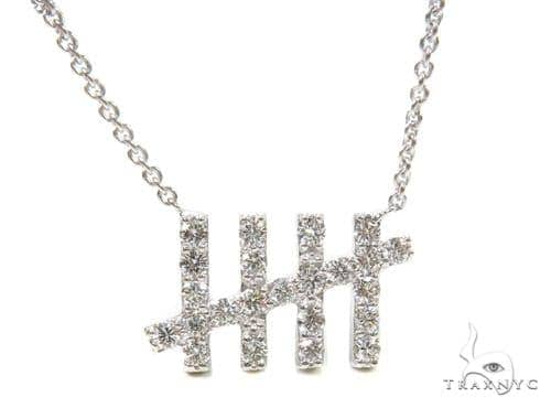 18k Gold Prong Diamond Necklace Diamond