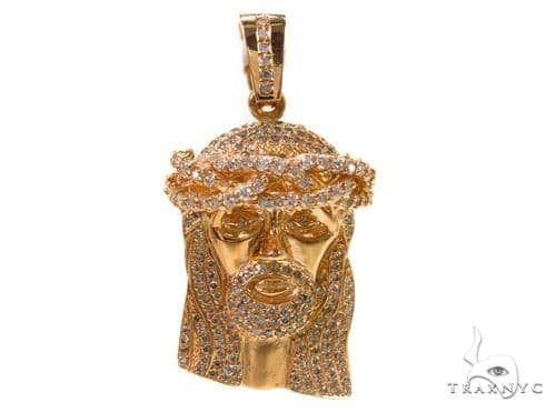 Prong Diamond Jesus Pendant 37551 Style