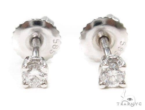 Prong Diamond Earrings 37565 Stone