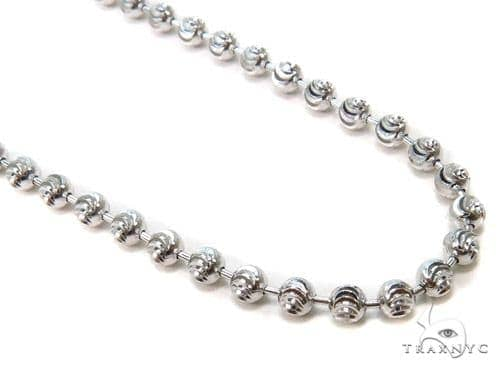 Moon Cut Silver Chain 30 Inches, 3mm, 12.7 Grams Silver