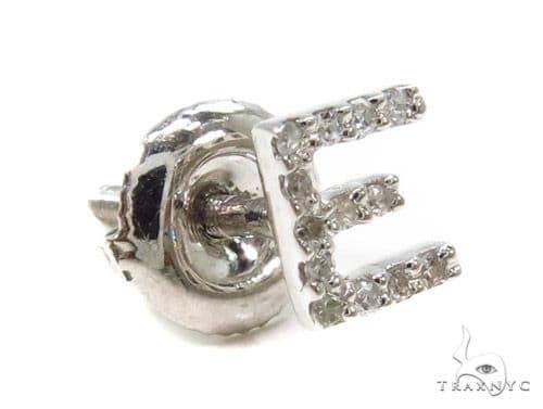 Prong Diamond Initial 'E' Single Earring 37576 Style