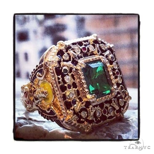 Custom Emerald Angel Ring Anniversary/Fashion