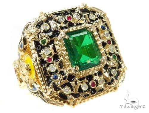 Custom Emerald Angel Ring Anniversary/Fashion