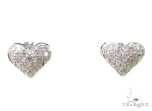 Prong Diamond Heart Earrings 37656 Stone